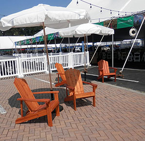 adirondack chairs canvas umbrellas