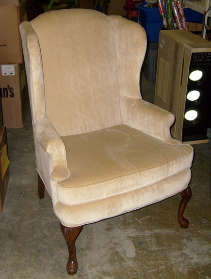 Formal Living Room Chair - good condition - rich white - All About Props - Residential Chairs To Rent For Props