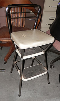 stool high chair step metal vintage : vintage metal step stool chair - islam-shia.org