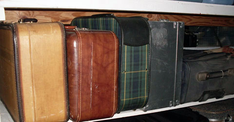 luggage vintage assorted small