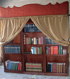 Bookcase With Curtain Beauty And The Beast