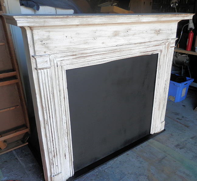 Cinderella fireplace mantel large white antique - All About Props - Cinderella