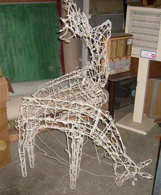 reindeer christmas outdoor decoration decor lighted - Wire Lighted Outdoor Christmas Decorations