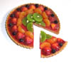 Fruit torte with separate slice